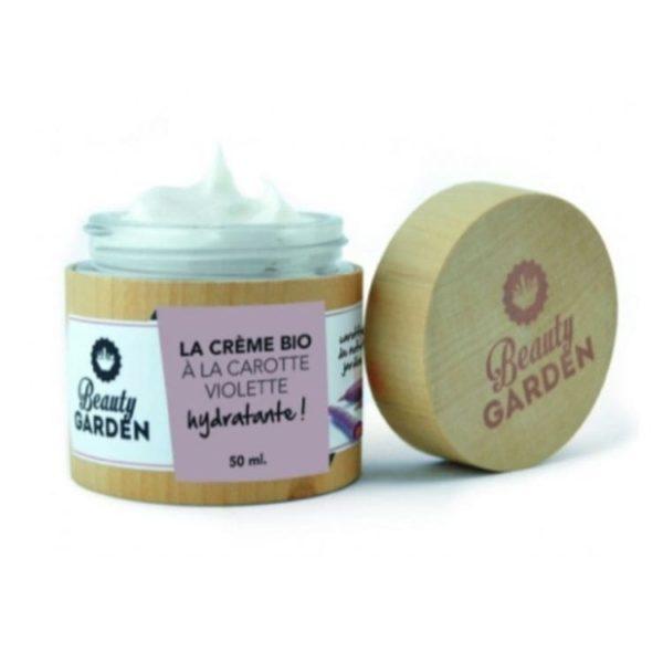 Photo Crème bio hydratante carotte violette Beauty Garden Institut Beauty Belle