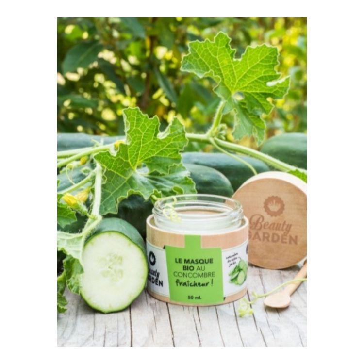 Photo masque bio fraîcheur au concombre beauty garden